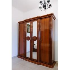 Шкаф четырехдверный с зеркалами Валенсия, София