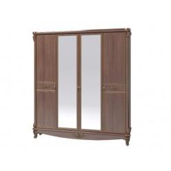 Шкаф четырехдверный с зеркалами  в спальню Версаль