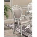 Классический белый мягкий стул Версаль с подлокотниками в царском стиле с золотом патиной