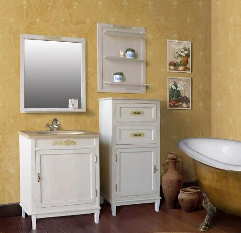 Недорогая мебель в ванную комнату в белом цвете spalnya-massiv.co.ua