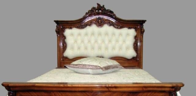 Малая кровать (1,2 м.) - односпальная с мягким изголовьем